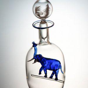 Flasche mit Elefant