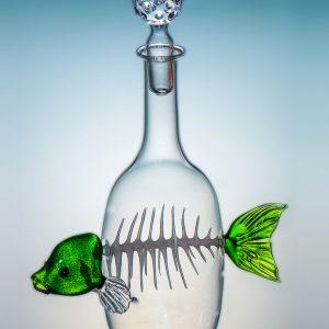 Flasche mit Fisch